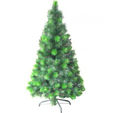 Branched green Christmas tree plain standard