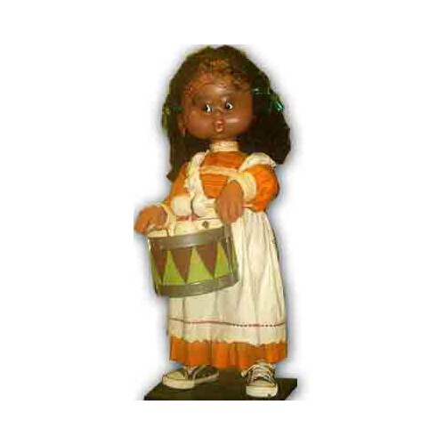Doll African Animated MUSICAL playing Drum