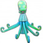 Octopus green blue