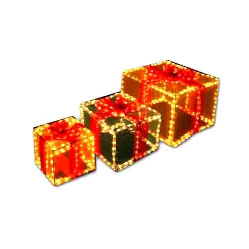 Gift Boxes light up coloured