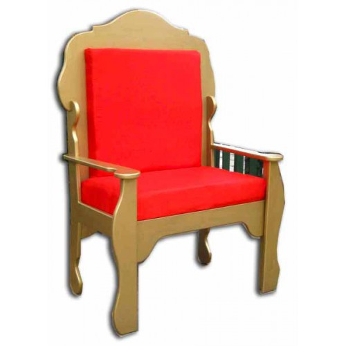 Chair Santa THRONE Red Gold