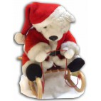 Teddy Animated on Sleigh
