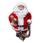 Santa standing with gift bag